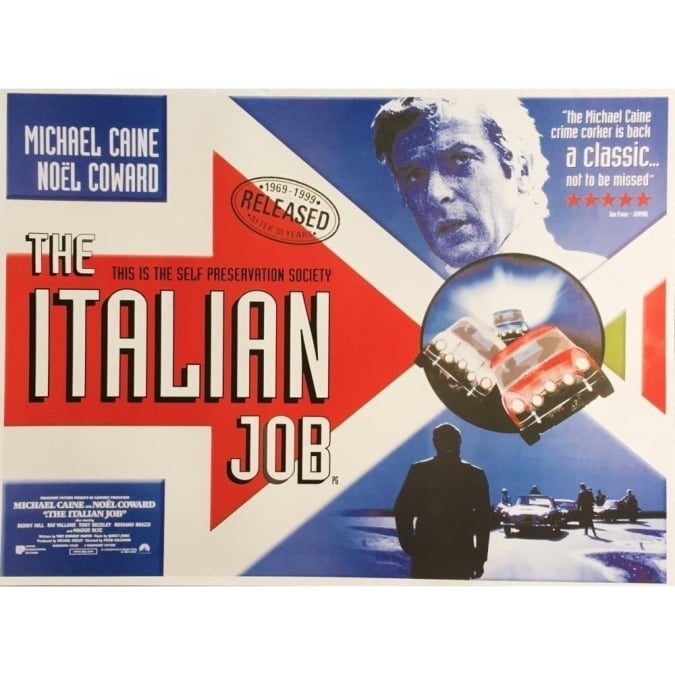 Sporting Display The Italian Job Poster