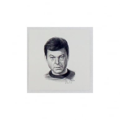 Star Trek Dr McCoy Portrait 12 x 12cm by Robert Tomlin