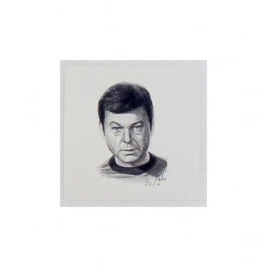 Star Trek Dr McCoy Portrait 12 x 12cm by Robert Tomlin