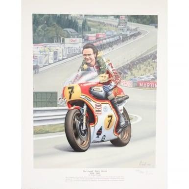 The Legend  Barry Sheene by Robert Tomlin Print Poster