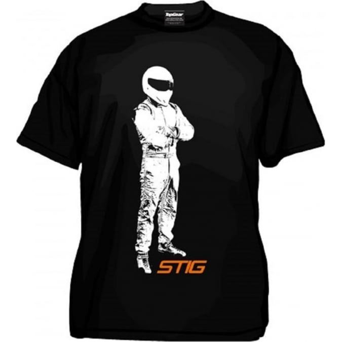 Top Gear Stig Standing T-Shirt Kids Black Including FREE Stig Keyring