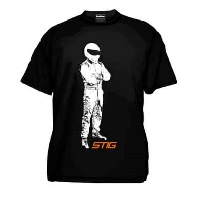 Stig Standing T-Shirt Kids Black Including FREE Stig Keyring