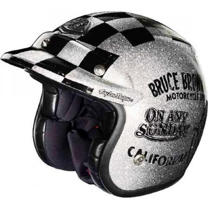 Troy Lee Designs On Any Sunday Open Face Limited Edition Helmet Black and Silver