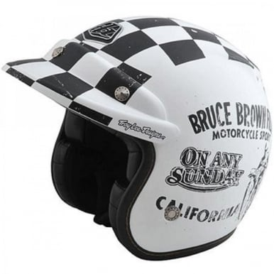 On Any Sunday Open Face Limited Edition Helmet Black and White