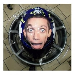 AGV Valentino Rossi Signed Helmet My Face Size S