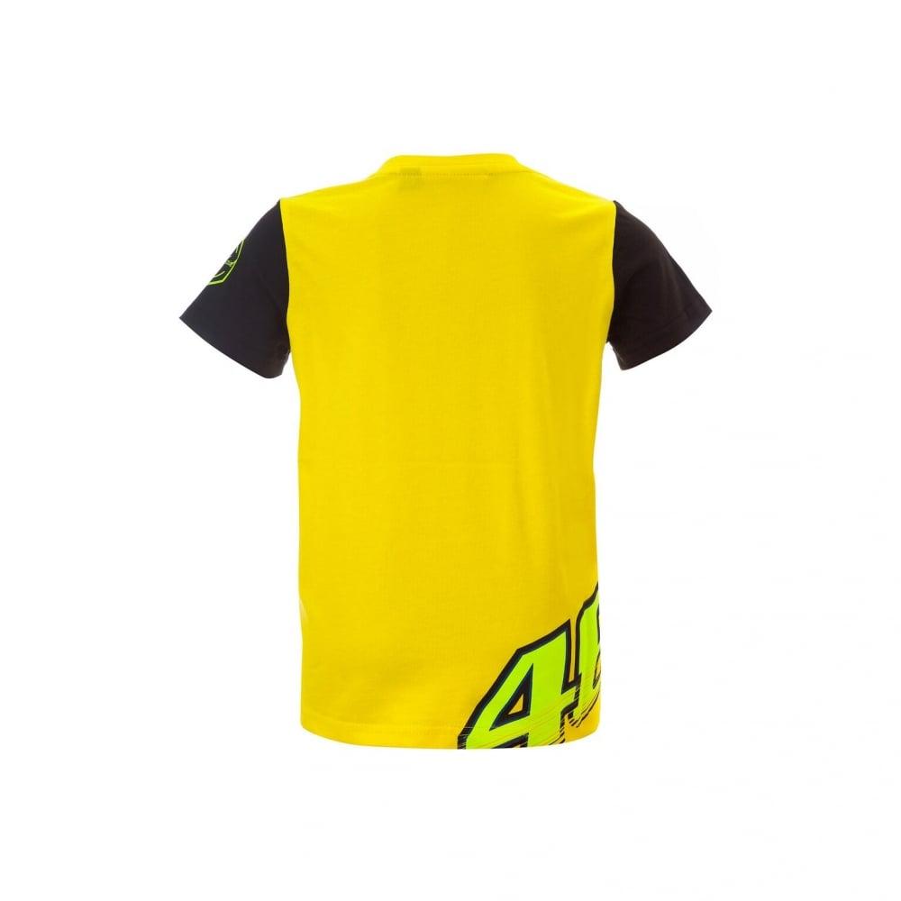 valentino rossi vr46 kid t shirt yellow. Black Bedroom Furniture Sets. Home Design Ideas