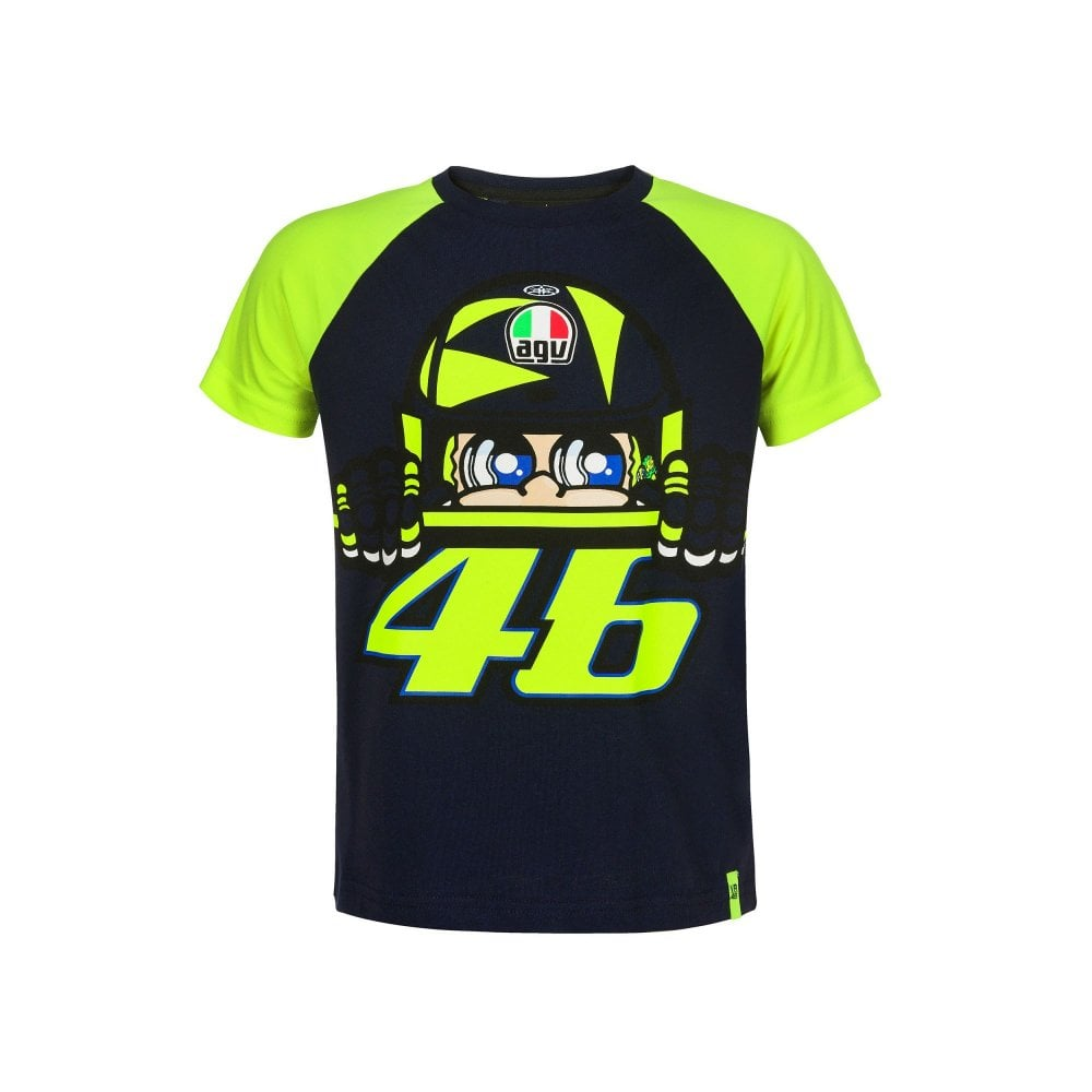 ad77f8a8 Valentino Rossi VR46 VR46 Kid Cupolino T-Shirt Blue - Kids from 195 ...