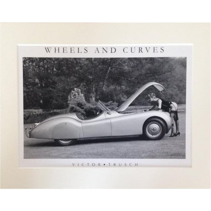 Victor Trusch Wheels and Curves Mounted Print