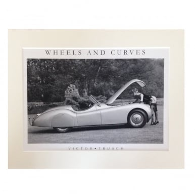 Wheels and Curves Mounted Print