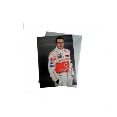 F1 Fernando Alonso Card