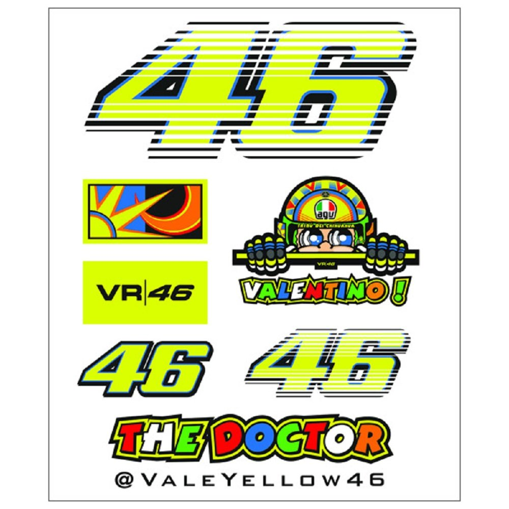 Rossi Sticker Set Small The Formula 1 Shop And More