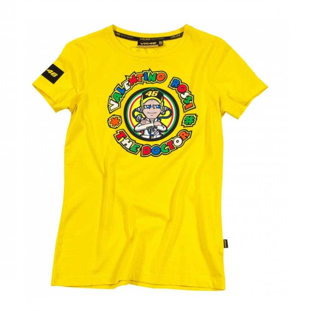 valentino rossi ladies 39 the doctor 39 t shirt yellow 2013. Black Bedroom Furniture Sets. Home Design Ideas