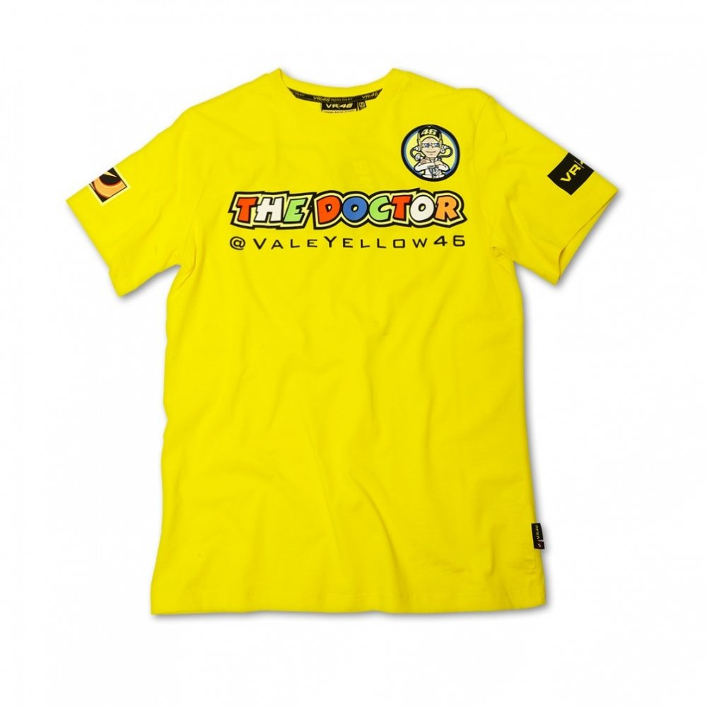 valentino rossi 39 the doctor 39 t shirt yellow 2013 195mph. Black Bedroom Furniture Sets. Home Design Ideas