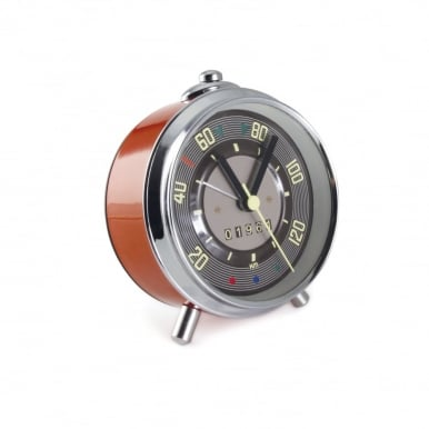 VW T1 BUS ALARM CLOCK IN SPEEDOMETER DESIGN INCL. GIFT TIN - RED