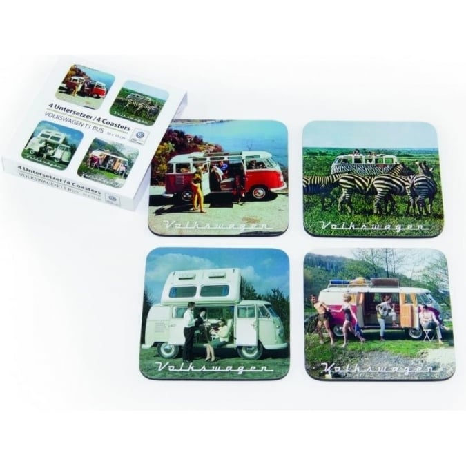 VW Collection by Brisa VW T1 BUS COASTERS 4er SET IN PAPER SLEEVE - SCENERIES