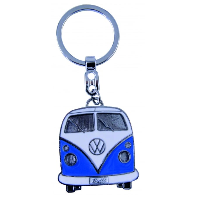 VW Collection by Brisa VW T1 BUS KEY RING IN GIFT TIN BLUE