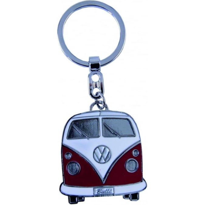 VW Collection by Brisa VW T1 BUS KEY RING IN GIFT TIN RED