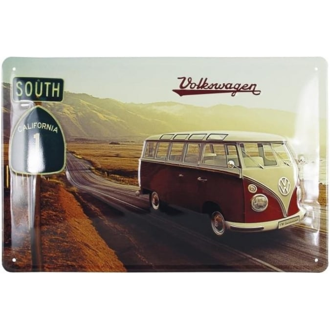 VW Collection by Brisa VW T1 BUS METAL SIGN 30x20cm - HIGHWAY 1