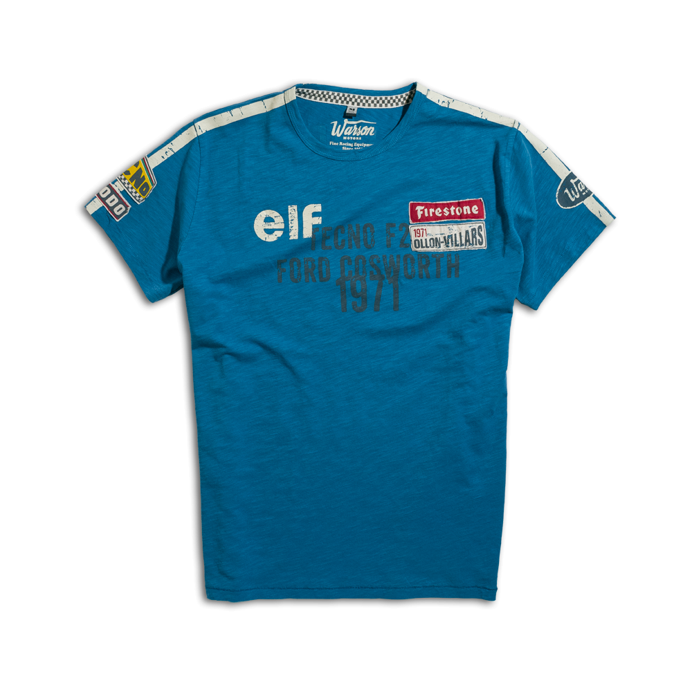 warson motors cevert blue t shirt