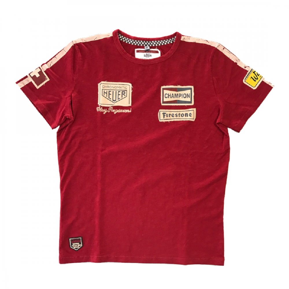 warson motors clay regazzoni t shirt red