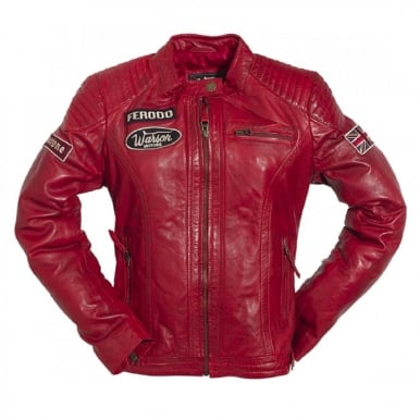 Ladies Grand Prix Leather Jacket Red