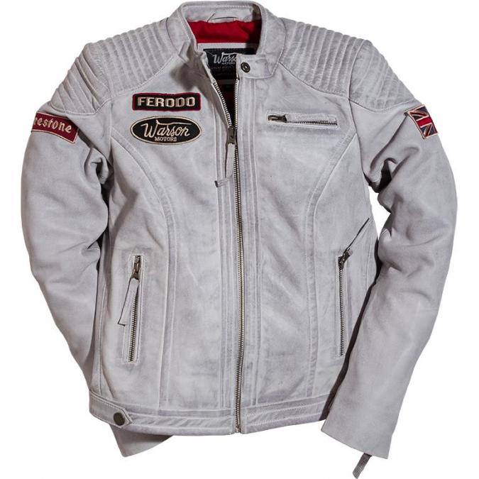 Warson Motors Ladies Grand Prix Leather Jacket  Smoke Grey