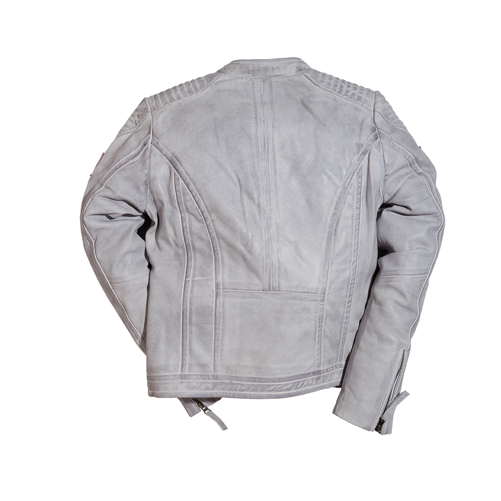 Leather jacket grey