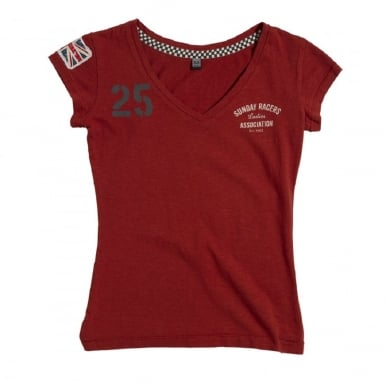 Ladies Sunday Racers T-Shirt Dark Red