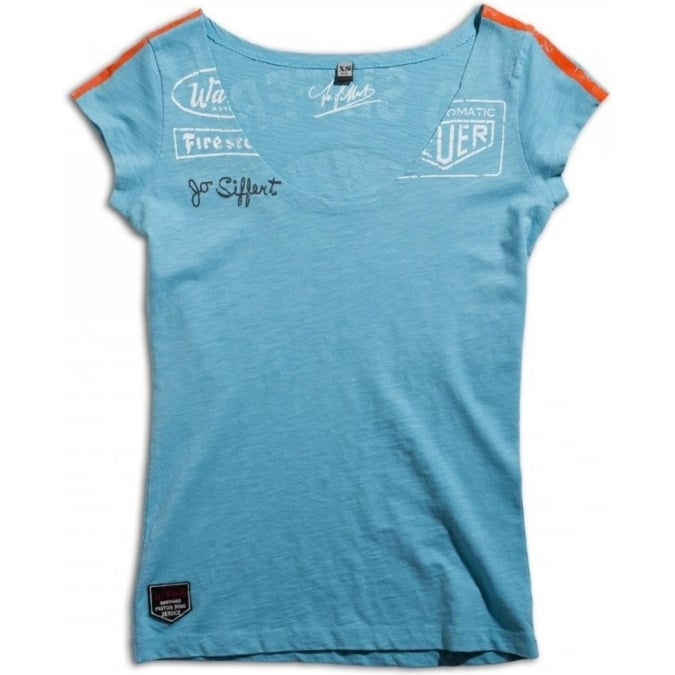 Warson Motors Ladies Targa Gulf Blue T-Shirt