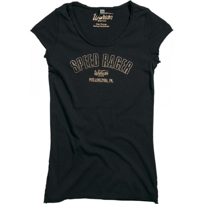 Warson Motors Speed Racer T-shirt Black Ladies