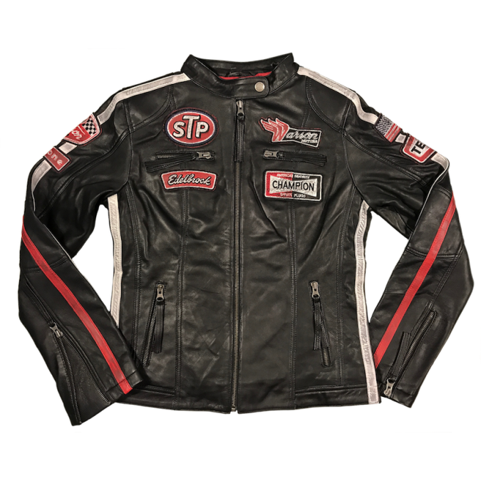 Warson Motors Womens Daytona Black Leather Jacket