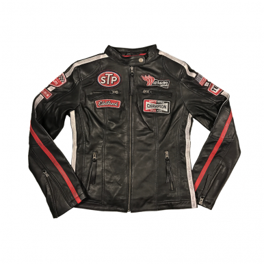 Womens Daytona Black Leather Jacket