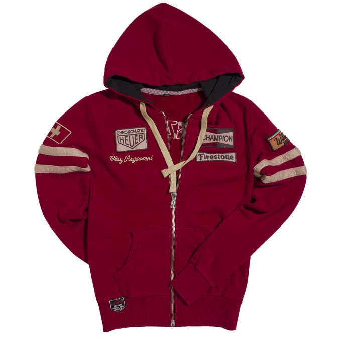 Warson Motors Womens Regazzoni Hoodie Dark Red