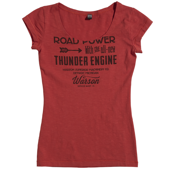 Warson Motors Womens Road Power Raspberry T-Shirt